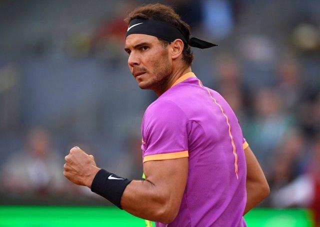 Rafa Nadal celebra la victoria en octavos del MMOPen 2017