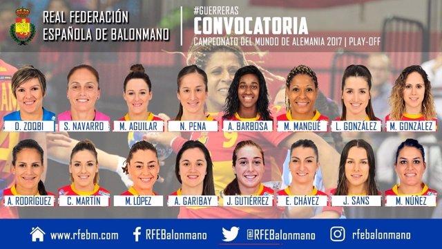 Lista convocadas selección española balonmano