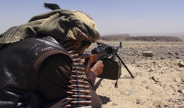 Combatiente en Yemen