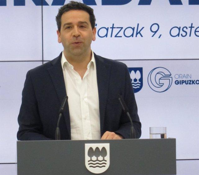 Imanol Lasa, portavoz de la Diputación de Gipuzkoa.