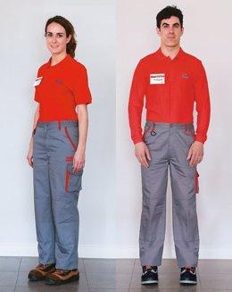 Uniforme de trabajo de los empleados de AVIA
