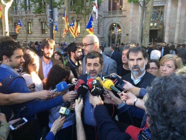 El presidente de la Assemblea Nacional Catalana (ANC), Jordi Sànchez
