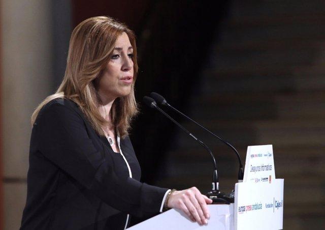 Susana Díaz ha participado en los desayunos de Europa Press Andalucía