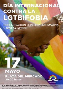Cartel LGTB con concentración para 17 de mayo