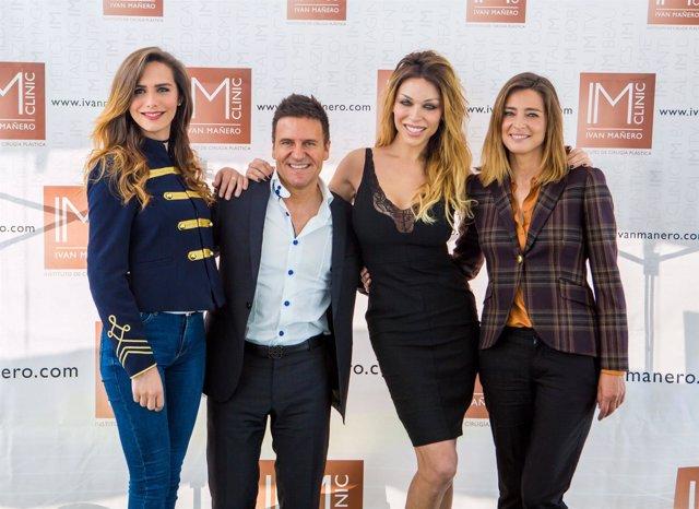 Angela Ponce, Dr.Ivan Manero, Vittoria Schisano y Sandra Barneda
