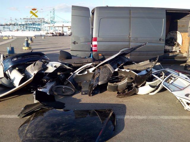 Los vehículos interceptados en Algeciras