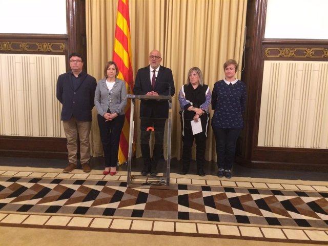 Miembros de la Mesa del Parlament investigados