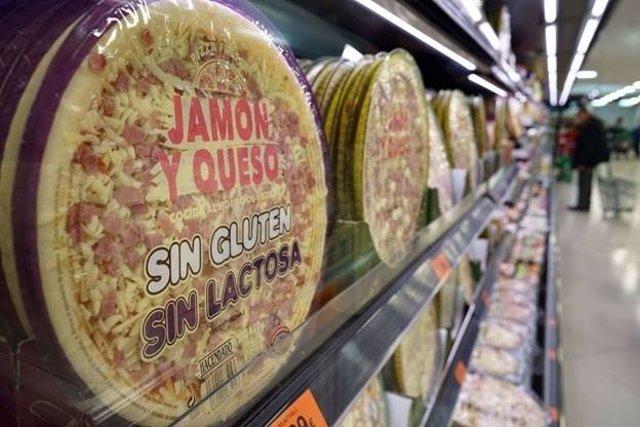 Detalle del lineal del supermercado de Puerto de Sagunto,