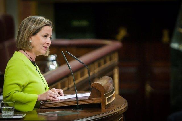 Ana Oramas, de Coalición Canaria, en el Pleno del Congreso