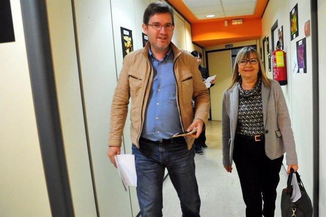 El diputado y la senadora Perla Borao, del PSOE Teruel.