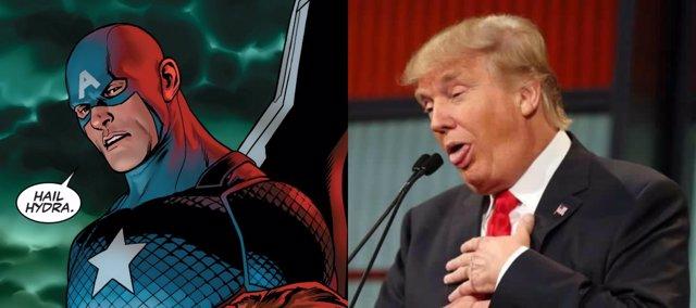 Capitán América y Trump