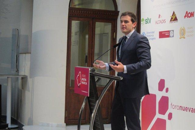 Albert Rivera en el Foro Nueva Murcia
