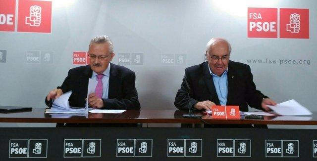 Antonio Trevín y Vicente Álvarez Areces.