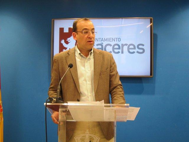 Rafael Mateos, portavoz del Ayuntamiento de Cáceres
