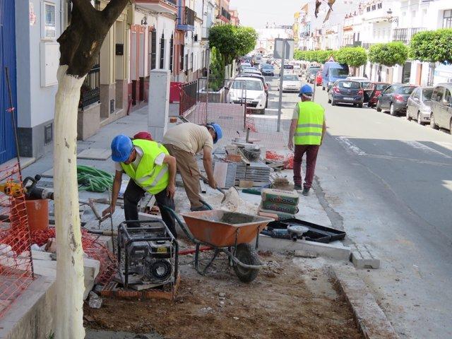 Obras en Cantillana (Sevilla) enmarcadas en el Plan Supera
