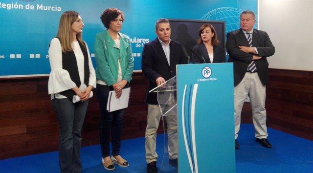 Jesús Cano en la rueda de prensa del PP