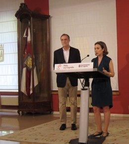 Gamarra y Ezquiaga, en la rueda de prensa