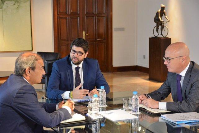 Reunión del presidente Fernando López Miras con el presidente de Ucomur