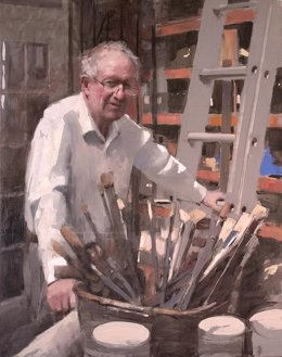 Retrato del pintor Raoul Middleman