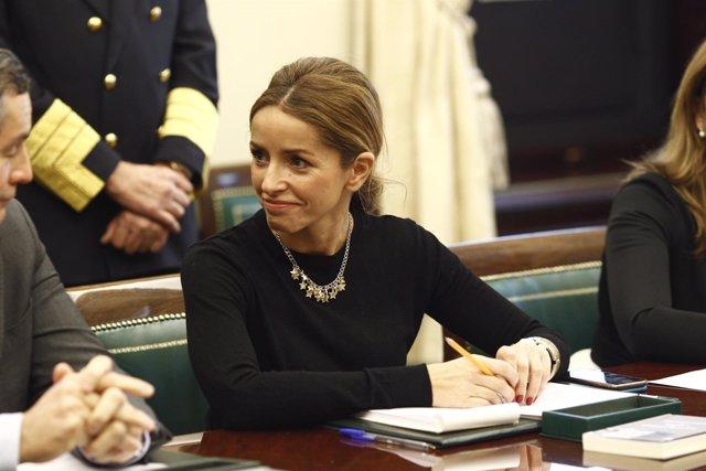 Patricia Reyes en la primera reunión de la mesa del Congreso