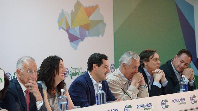 Juanma Moreno preside la Junta Directiva del PP-A