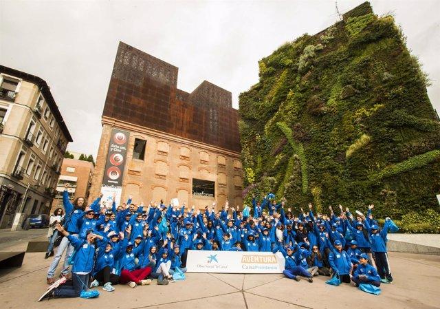 Participantes de la expedición 'Aventura CaixaProinfancia Los Cinco Grandes'