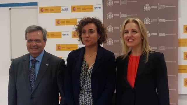 Rafael Matesanz, Dolors Montserrat y Beatriz Domínguez-Gil