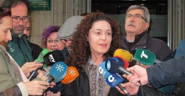 La portavoz adjunta de IU Andalucía, Inmaculada Nieto