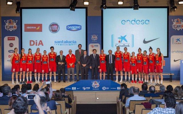 Presentación de la selección española femenina de baloncesto