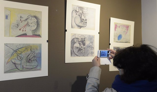 Burgos: Bocetos de El Guernica de Picasso