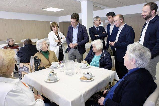 Tellado recibe a Pablo Casado en Galicia