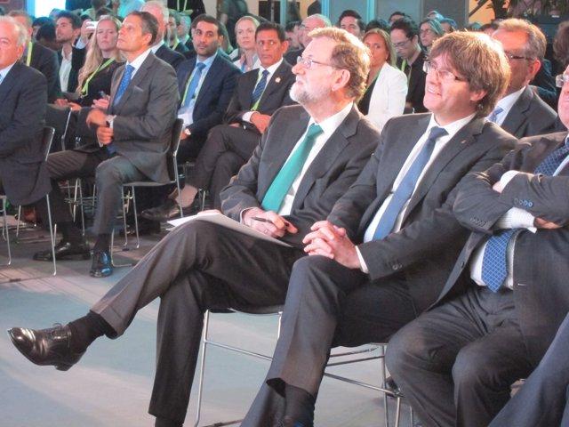 Pte. Del Gobierno, M.Rajoy, pte.De la Generalitat, C.Puigdemont