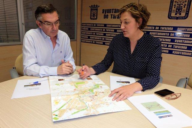 Beamonte y Navarro se han reunido este viernes en el Ayuntamiento de Tarazona