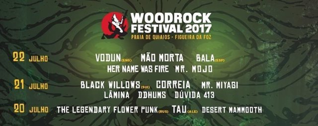 Cartel del Woodrock Festival 2017