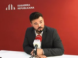 """Rufián dice que el referéndum no pide independentistas sino """"demócratas y antifascistas"""""""
