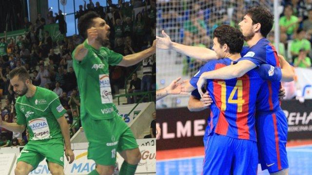 Magna Gurpea y FC Barcelona en playoffs de fútbol sala
