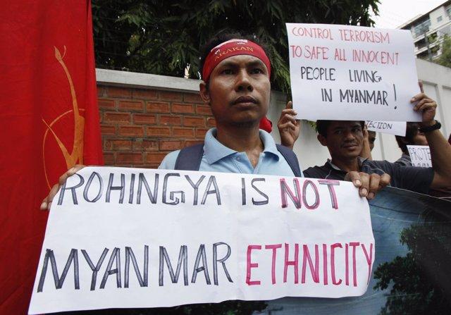 Budista contra rohingya en Birmania