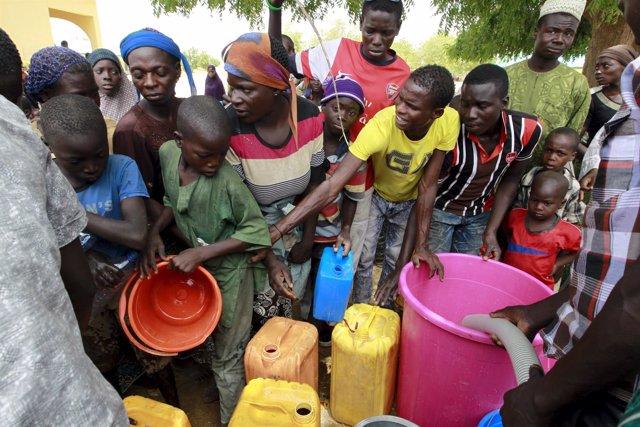 Desplazados por Boko Haram en Nigeria