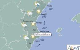 Las lluvias solo harán acto de aparición en el noroeste de Castellón