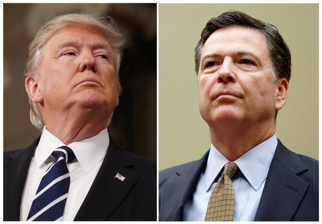 Donald Trump y James Comey