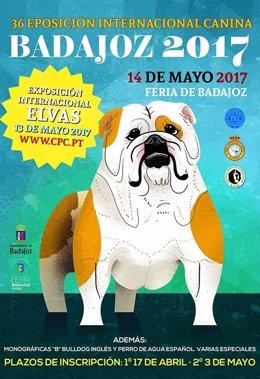 Cartel de la exposición de perros de Badajoz