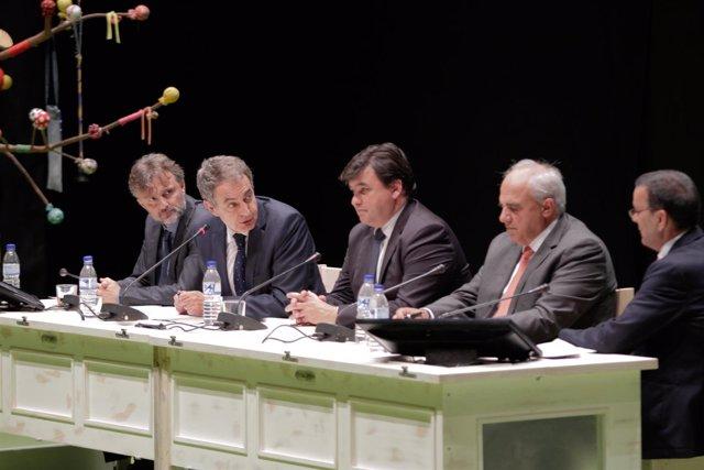 El ex presidente del Gobierno José Luis Rodríguez Zapatero en el Congreso