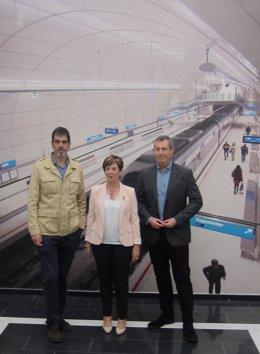 Eneko Goia, Arantxa Tapia y Markel Olano.