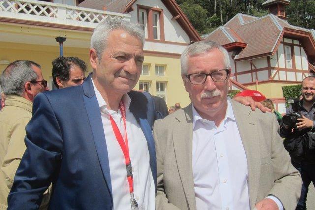 Carlos Sánchez e Ignacio Fernández Toxo