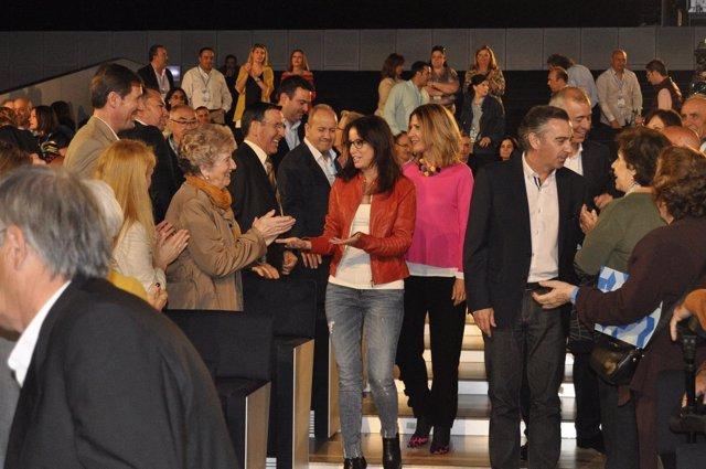 Andrea Levy en el congreso del PP de Zaragoza.