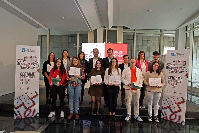 La Xunta entrega los premios del certamen Lingua de Namorar.