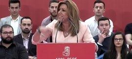 """Susana Díaz, que quiere ser la secretaria general """"de todos los socialistas"""", no dejará """"que nadie arrodille al PSOE"""""""