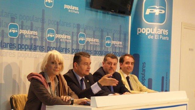 Antonio Sanz se reúne con el Comité Local del PP en El Puerto de Santa María