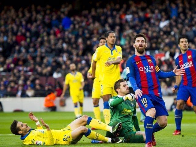 Barcelona Las Palmas Leo Messi Luis Suárez Javi Varas