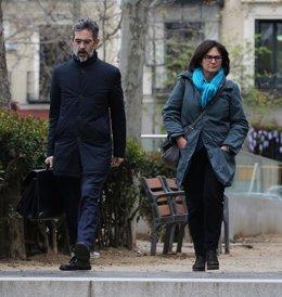Marta Pujol Ferrusola llega a la Audiencia Nacional para declarar